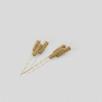 Wheat 3d render