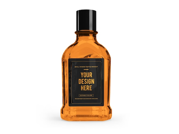 ウイスキーアルコール3dモックアップデザイン分離