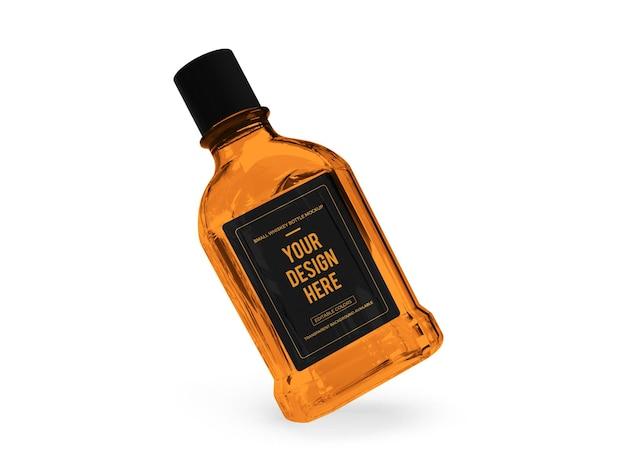 ウイスキーアルコール3dモックアップレンダリング