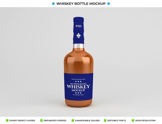 음료 개념에 위스키 병 모형 디자인
