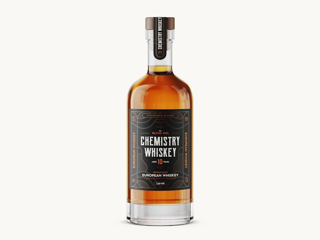 Whiskey bottle mockup template