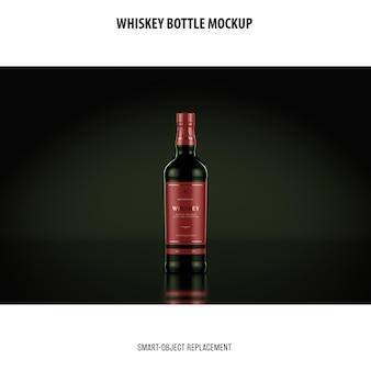 Whiskey bottle mockup