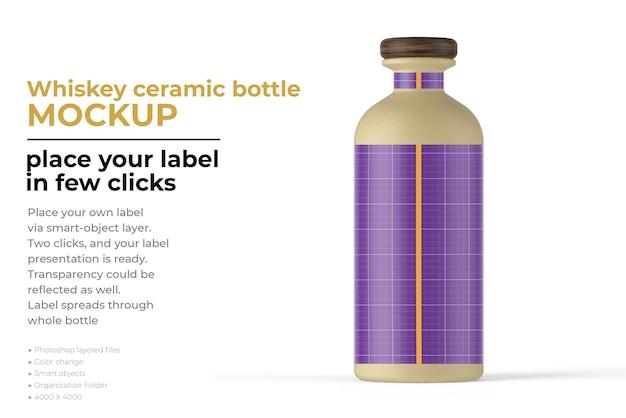 Whiskey ceramic bottle