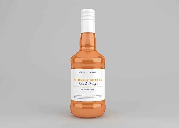 Whiskey drink bottle label mockup