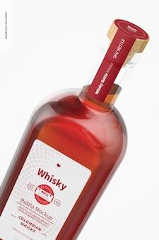 Whisky bottle mockup, close-up