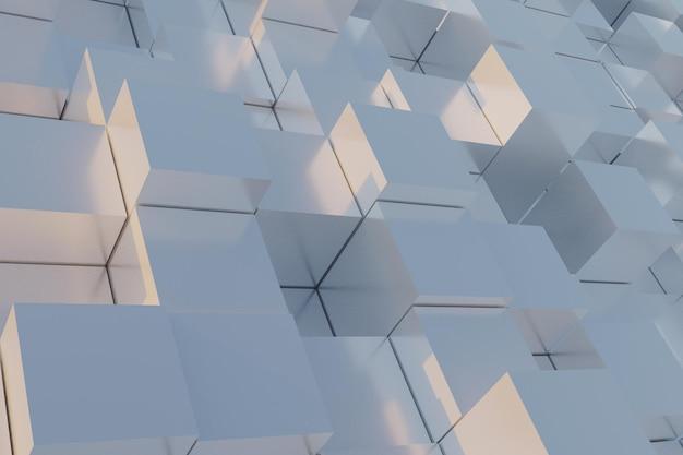 흰색 3d 기하학적 배경
