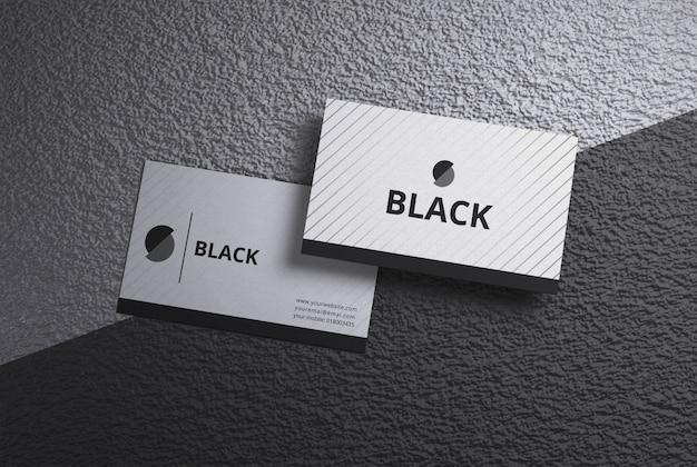 白と黒の名刺のモックアップ