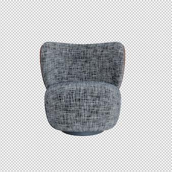 흰색과 검은색 줄무늬 안락의자