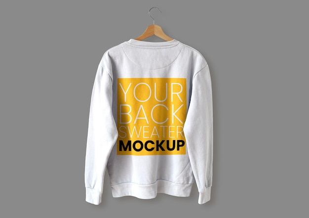 White back sweater mockup