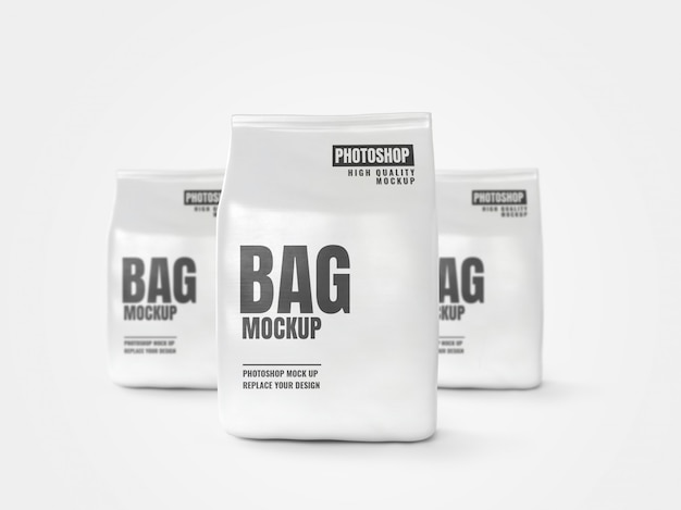 White bag mockup banner artwork