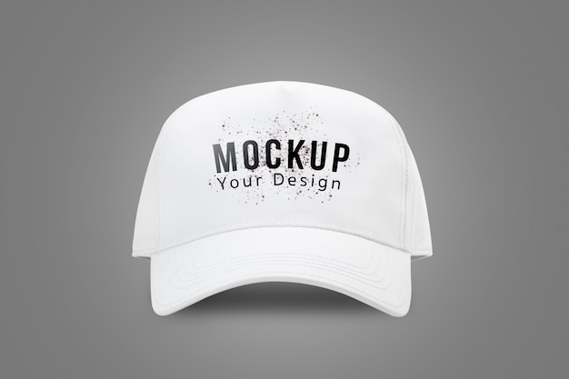 White baseball cap mock up template