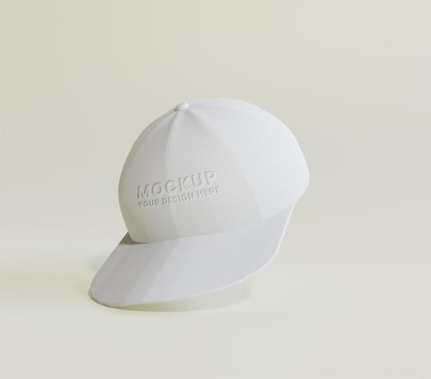 흰색 야구 모자 모형