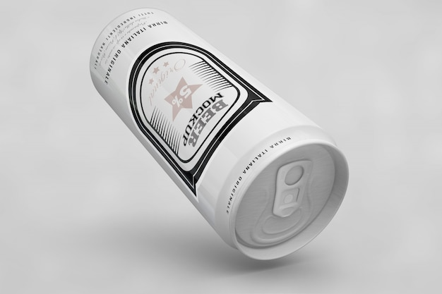 White beer can mock up