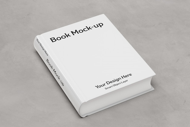 White book cover mockup