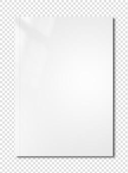 White booklet cover mockup