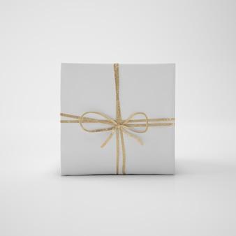Белая коробка со шнуром