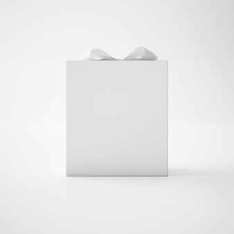 White box with ribbon
