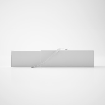 Белая коробка с лентой
