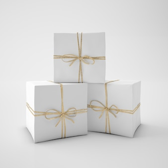White boxes with cord