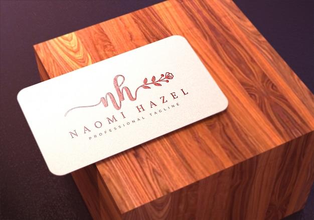 Белая визитка логотип макет премиум psd