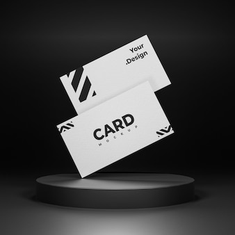 White business card mockup design isolated