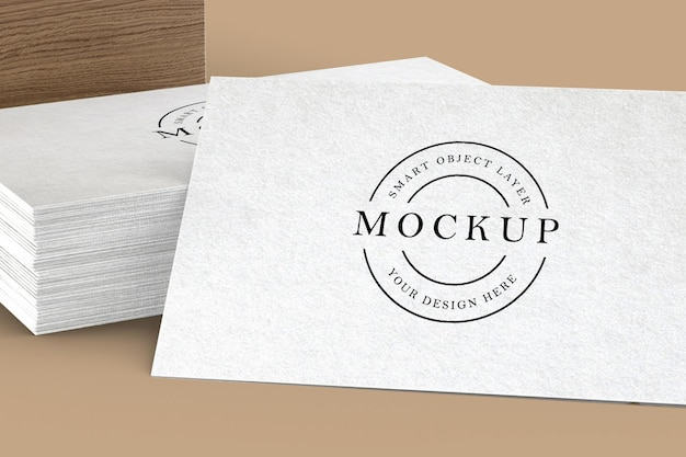 White business card mockup design