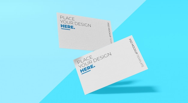White business card mockup premium psd vol.2