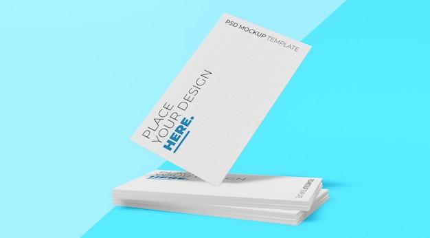 White business card mockup premium psd vol.6