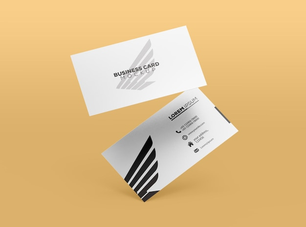 White business card mockup rendering