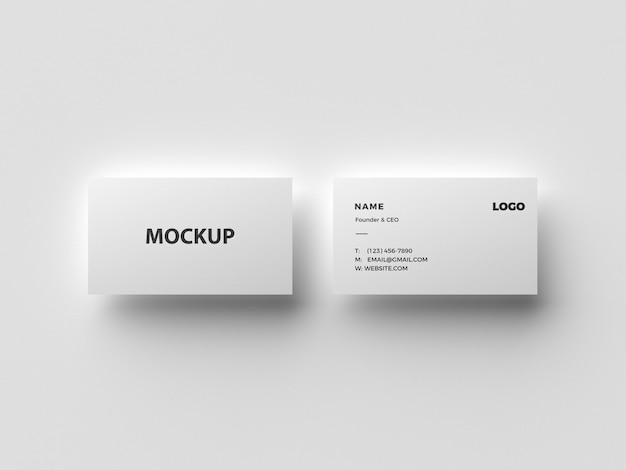 White business card mockup