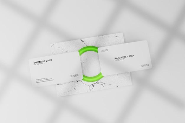 Белый макет визитки