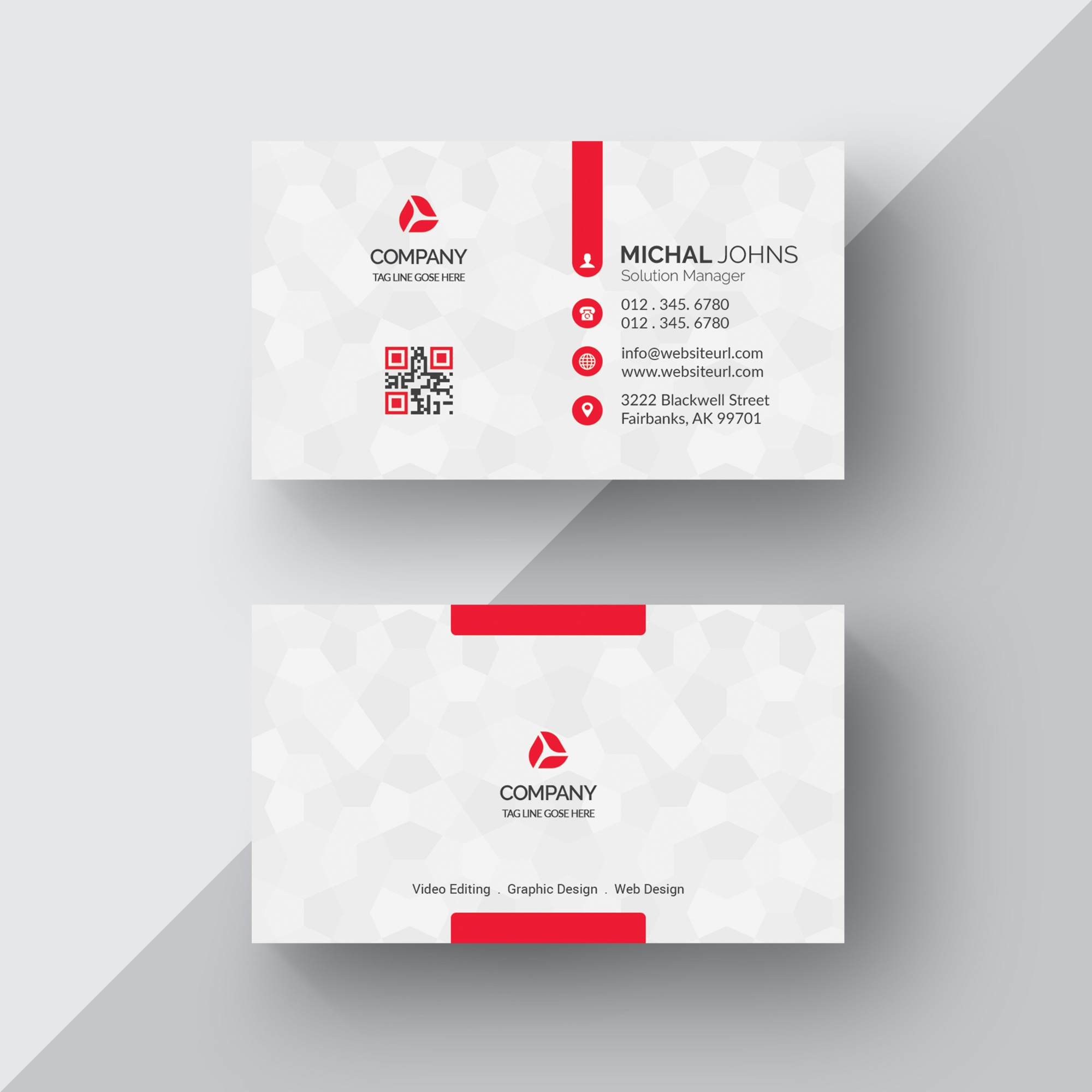 Cards psd 4100 free psd files white business card with red details wajeb Image collections