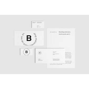 White business stationery mock up frontal view