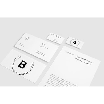 White business stationery mock up