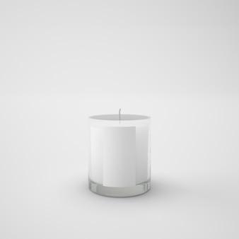 유리에 하얀 촛불