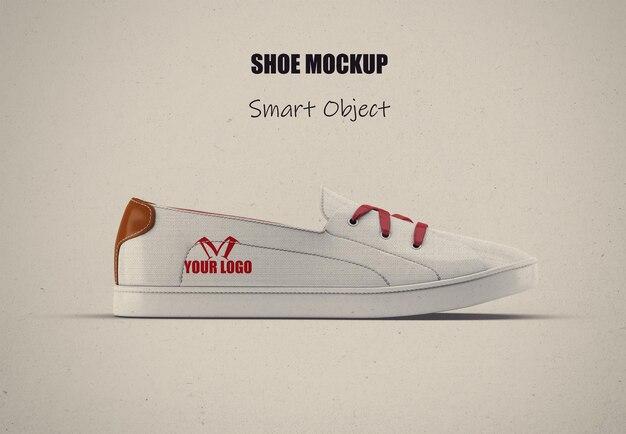 Белый холст макет обуви изолирован