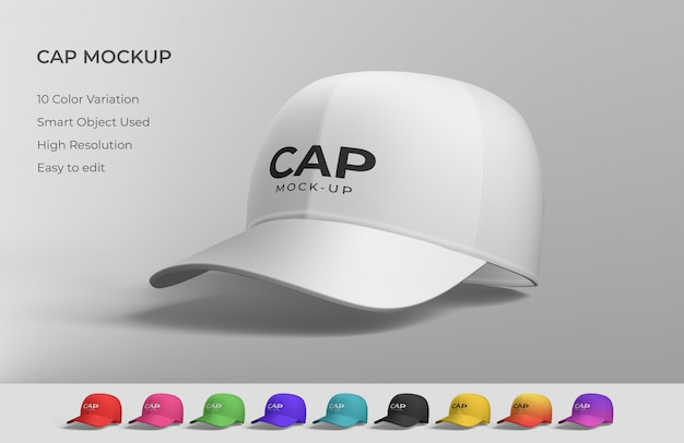 White cap mockup