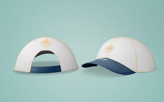 White cap with company logo