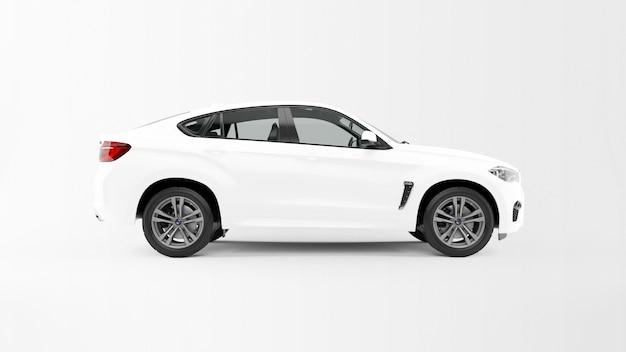 Белый автомобиль изолирован