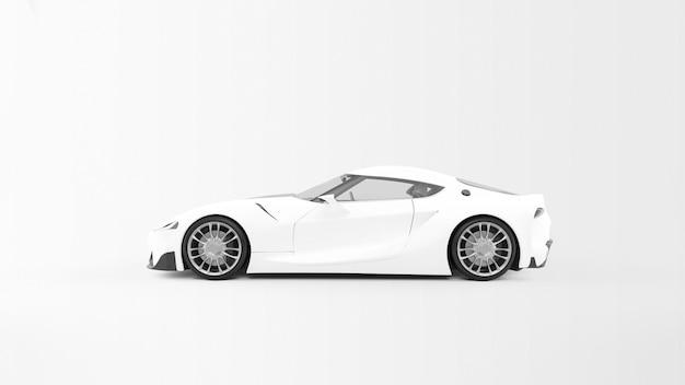고립 된 흰색 차
