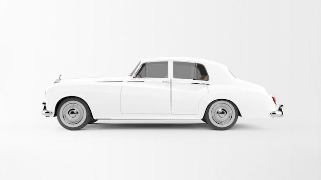 分離された白い車