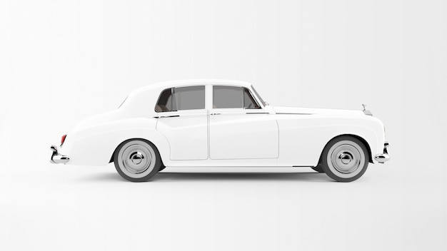 White car isolated