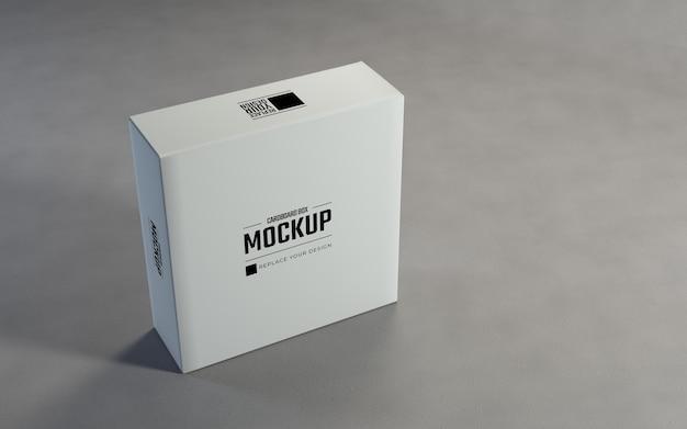 白い段ボール箱は、パッケージのモックアップデザインテンプレートを表示します