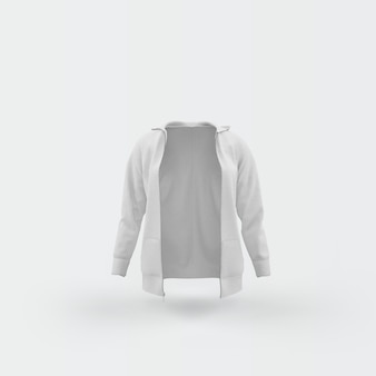 白に浮かぶ白いカーディガン