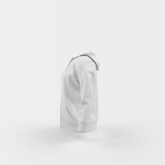 Белый кардиган, плавающий на белом