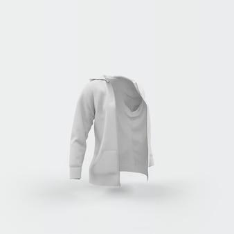 White cardigan floating on white