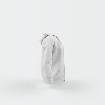 Cardigan bianco che galleggia sul bianco