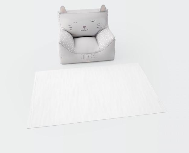 화이트 카펫과 부드러운 시트