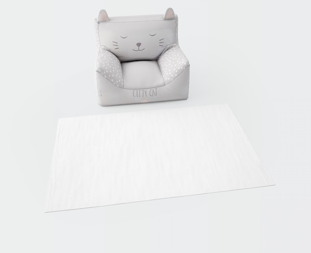 White carpet and soft seat