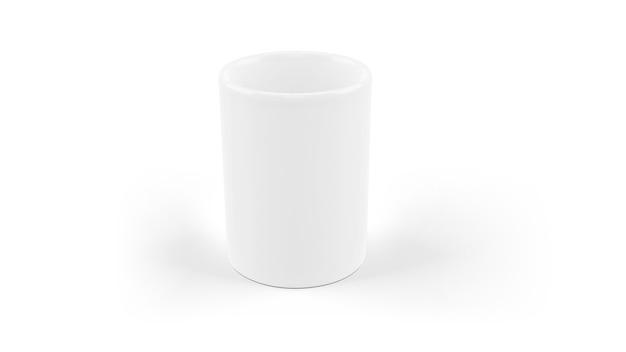 Белая керамическая кружка макет изолированы